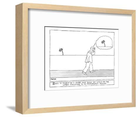 """Kudos"" - New Yorker Cartoon-Jack Ziegler-Framed Art Print"