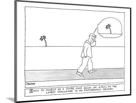"""Kudos"" - New Yorker Cartoon-Jack Ziegler-Mounted Premium Giclee Print"