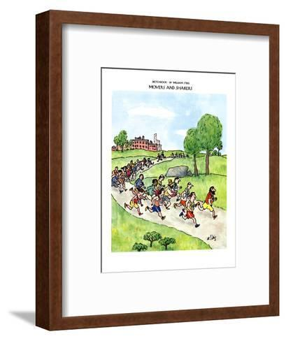 SKETCHBOOK-MOVERS AND SHAKERS - New Yorker Cartoon-William Steig-Framed Art Print