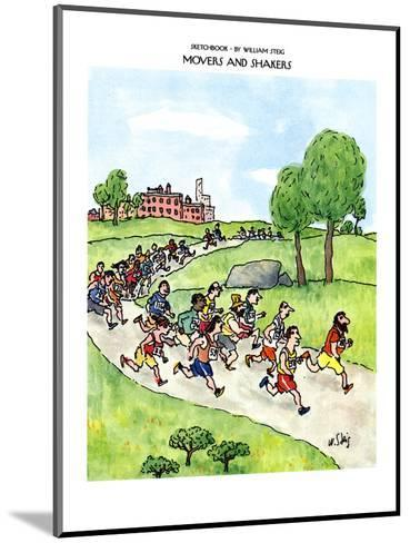 SKETCHBOOK-MOVERS AND SHAKERS - New Yorker Cartoon-William Steig-Mounted Premium Giclee Print