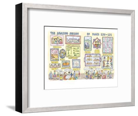 Museum of pages 150-151 - New Yorker Cartoon-Roz Chast-Framed Art Print