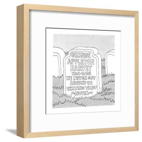 George Appleton Harvey - New Yorker Cartoon-Gahan Wilson-Framed Art Print