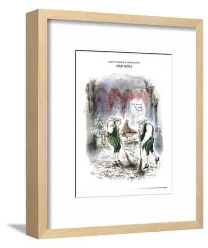 Sour Notes-'Yeah, as usual it's mostly Mozart' - New Yorker Cartoon-Ronald Searle-Framed Art Print