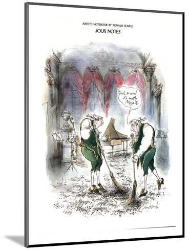 Sour Notes-'Yeah, as usual it's mostly Mozart' - New Yorker Cartoon-Ronald Searle-Mounted Premium Giclee Print