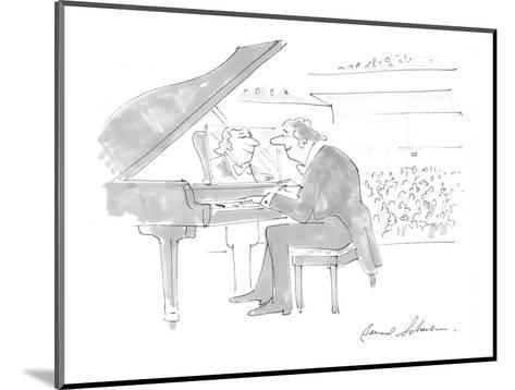 Pianist admiring own image in mirror on piano where sheet music should be. - Cartoon-Bernard Schoenbaum-Mounted Premium Giclee Print