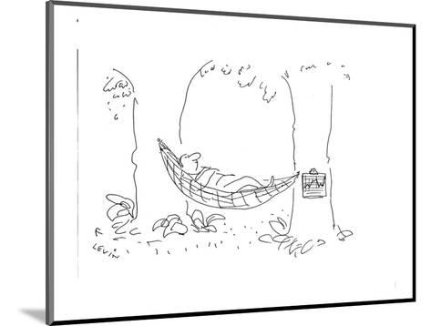 Man laying in hammock with medical chart hanging from one of  the trees. - Cartoon-Arnie Levin-Mounted Premium Giclee Print