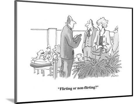 """Flirting or non-flirting?"" - Cartoon-J.P. Rini-Mounted Premium Giclee Print"