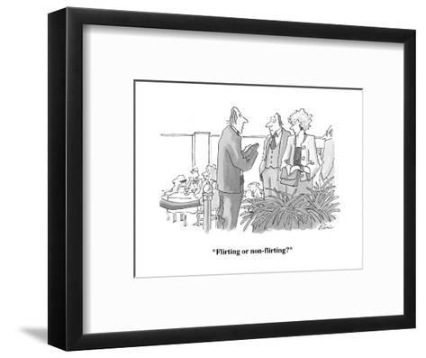 """""""Flirting or non-flirting?"""" - Cartoon-J.P. Rini-Framed Art Print"""