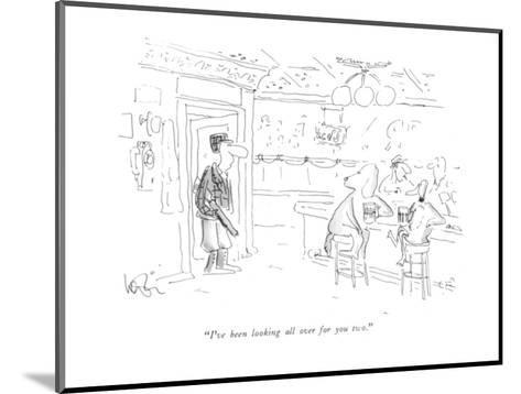 """""""I've been looking all over for you two."""" - New Yorker Cartoon-Arnie Levin-Mounted Premium Giclee Print"""