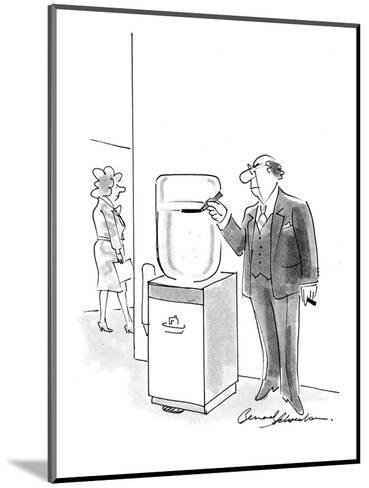 Boss marking water cooler with a pen to keep track of its current level. - Cartoon-Bernard Schoenbaum-Mounted Premium Giclee Print