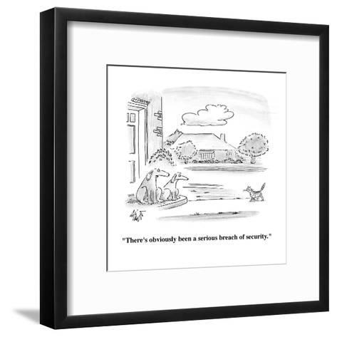 """""""There's obviously been a serious breach of security."""" - Cartoon-Frank Cotham-Framed Art Print"""