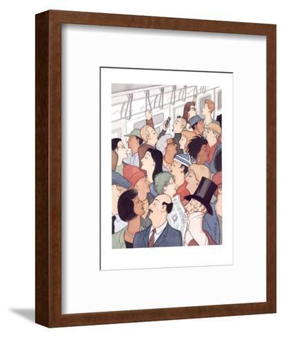 Subway riders all resemble Eustace Tilley - New Yorker Cartoon-R. Sikoryak-Framed Art Print