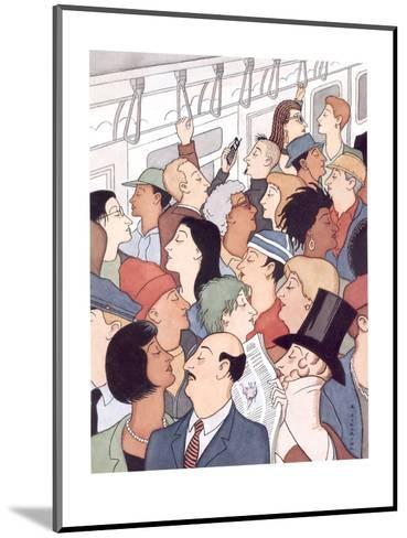 Subway riders all resemble Eustace Tilley - New Yorker Cartoon-R. Sikoryak-Mounted Premium Giclee Print
