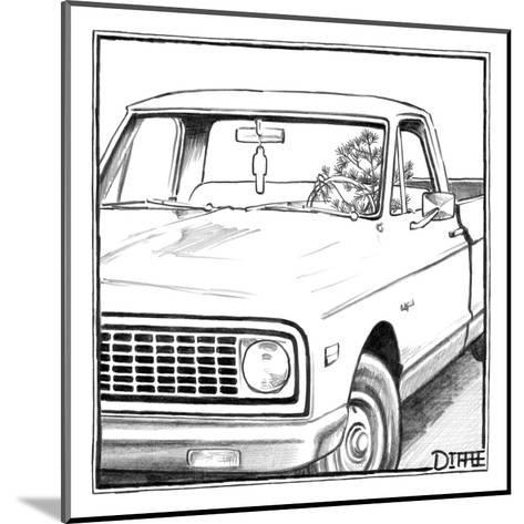 A tree in the shape of a car air-freshener drives a car with an air-freshe? - New Yorker Cartoon-Matthew Diffee-Mounted Premium Giclee Print