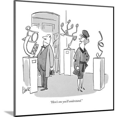 """""""Here's one you'll understand."""" - New Yorker Cartoon-Claude Smith-Mounted Premium Giclee Print"""