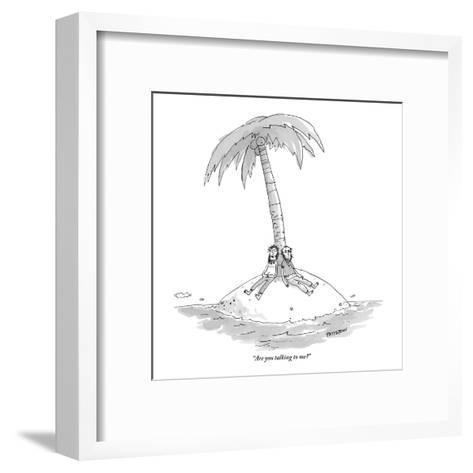 """""""Are you talking to me?"""" - New Yorker Cartoon-Jason Patterson-Framed Art Print"""
