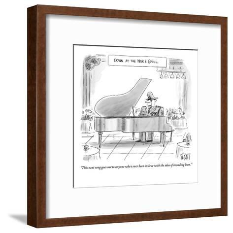 """""""This next song goes out to anyone who's ever been in love with the idea o?"""" - New Yorker Cartoon-Christopher Weyant-Framed Art Print"""