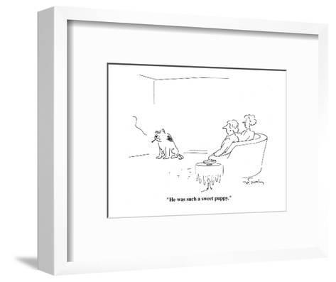 """""""He was such a sweet puppy."""" - Cartoon-Mike Twohy-Framed Art Print"""