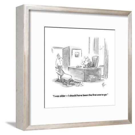 """I was older?I should have been the first one to go."" - Cartoon-Frank Cotham-Framed Art Print"