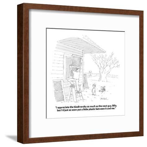 """I appreciate the biodiversity as much as the next guy, Billy, but I'd jus?"" - Cartoon-Jack Ziegler-Framed Art Print"
