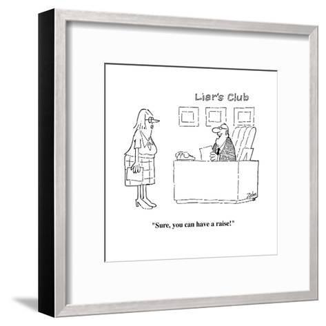 """Sure, you can have a raise!"" - Cartoon-Bob Zahn-Framed Art Print"