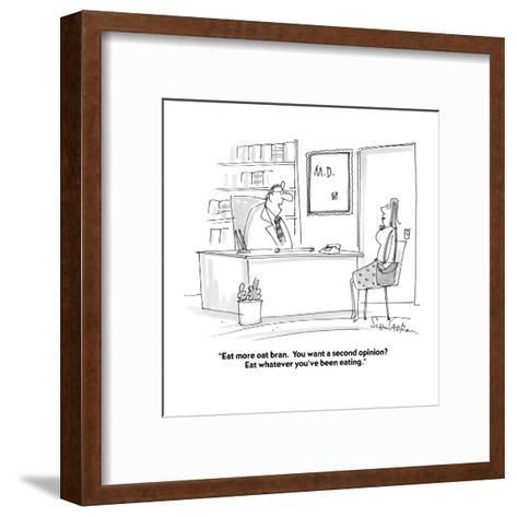 """""""Eat more oat bran.  You want a second opinion?  Eat whatever you've been ?"""" - Cartoon-Harley L. Schwadron-Framed Art Print"""