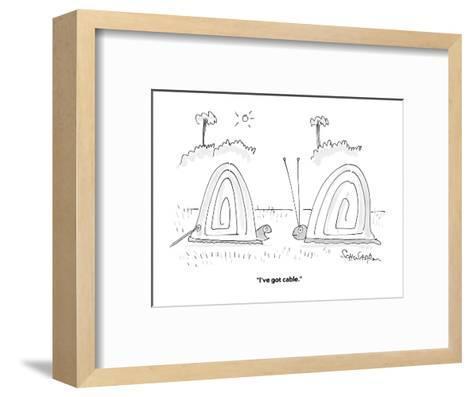 """""""I've got cable."""" - Cartoon-Harley L. Schwadron-Framed Art Print"""