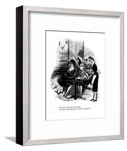 """Louise voted for Roosevelt, and now she's afraid to tell her husband."" - New Yorker Cartoon-Barbara Shermund-Framed Art Print"