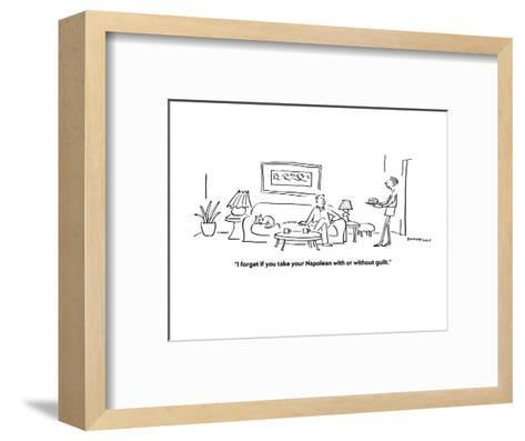 """""""I forget if you take your Napolean with or without guilt."""" - Cartoon-Liza Donnelly-Framed Art Print"""