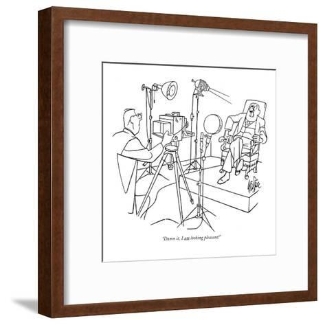 """Damn it, I am looking pleasant!"" - New Yorker Cartoon-George Price-Framed Art Print"