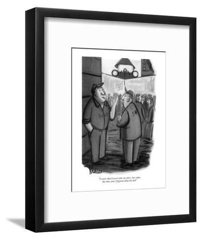 """I swore they'd never take me alive, but when the time came I figured what?"" - New Yorker Cartoon-Robert Kraus-Framed Art Print"