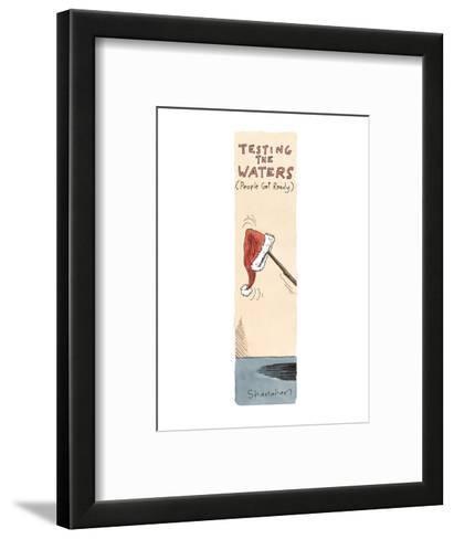 Testing the Waters  - Cartoon-Danny Shanahan-Framed Art Print