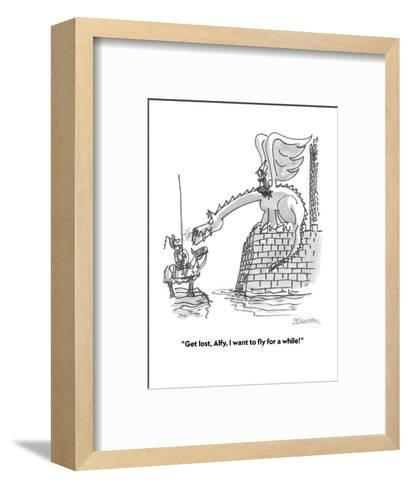 """""""Get lost, Alfy, I want to fly for a while!"""" - Cartoon-Boris Drucker-Framed Art Print"""