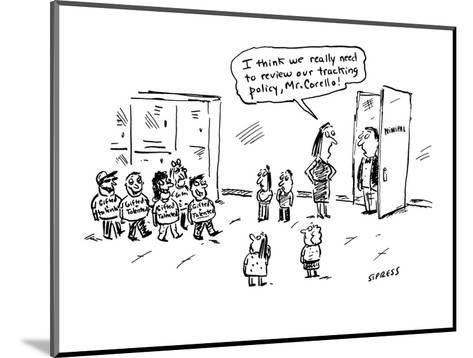 I think we really need to review our tracking policy, Mr. Corello!' - Cartoon-David Sipress-Mounted Premium Giclee Print
