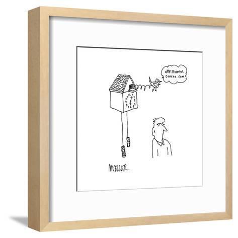 Http://www.coocoo.com' - Cartoon-Peter Mueller-Framed Art Print