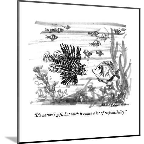 """""""It's nature's gift, but with it comes a lot of responsibility."""" - New Yorker Cartoon-Bernard Schoenbaum-Mounted Premium Giclee Print"""