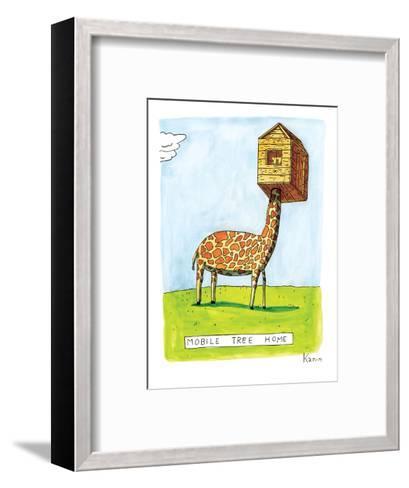 "(""Mobile Tree Home"") - New Yorker Cartoon-Zachary Kanin-Framed Art Print"