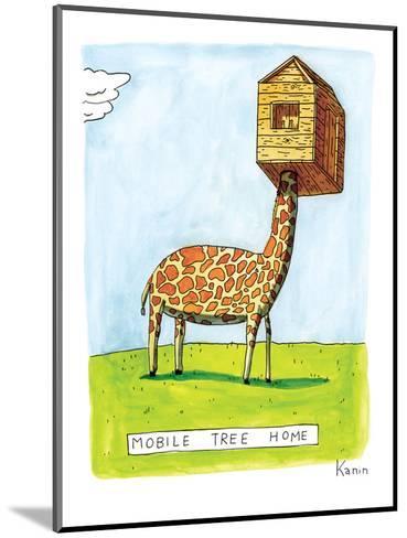 "(""Mobile Tree Home"") - New Yorker Cartoon-Zachary Kanin-Mounted Premium Giclee Print"