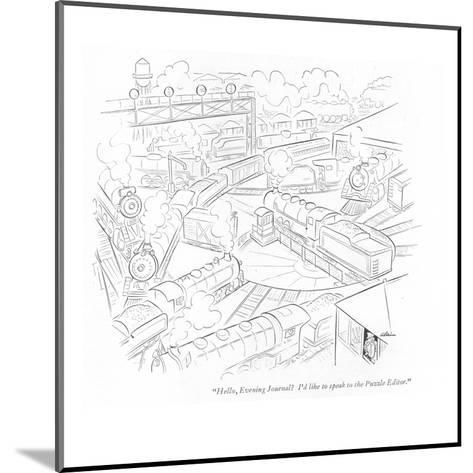 """Hello, Evening Journal? I'd like to speak to the Puzzle Editor."" - New Yorker Cartoon-Alain-Mounted Premium Giclee Print"