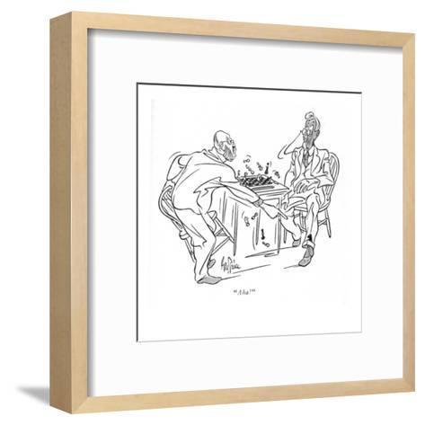 """Aha!"" - New Yorker Cartoon-George Price-Framed Art Print"