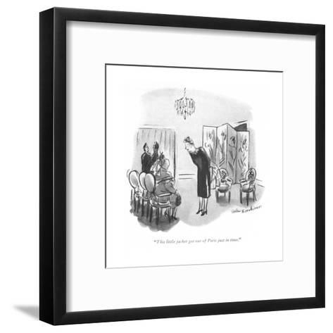 """""""This little jacket got out of Paris just in time."""" - New Yorker Cartoon-Helen E. Hokinson-Framed Art Print"""