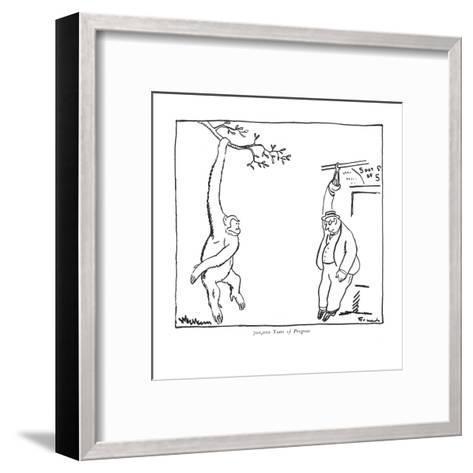 700,000 Years of Progress - New Yorker Cartoon-Alfred Frueh-Framed Art Print