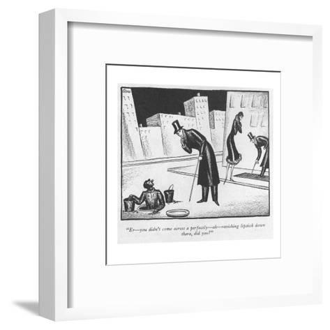 """""""Er?you didn't come across a perfectly?ah?ravishing lipstick down there, d?-Peter Arno-Framed Art Print"""
