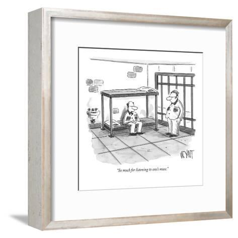 """So much for listening to one's muse."" - New Yorker Cartoon-Christopher Weyant-Framed Art Print"