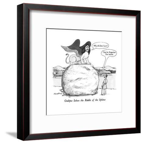 Oedipus Solves the Riddle of the Sphinx - New Yorker Cartoon-J.B. Handelsman-Framed Art Print