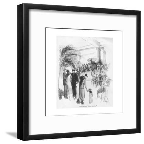 """""""But darling, this is a ship."""" - New Yorker Cartoon-C.W. Anderson-Framed Art Print"""