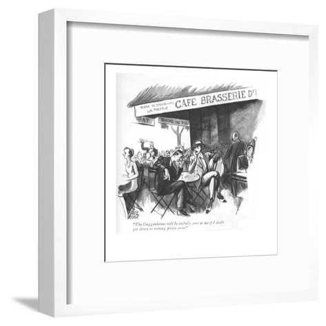 """""""The Guggenheims will be awfully sore at me if I don't get down to writing?"""" - New Yorker Cartoon-Carl Rose-Framed Art Print"""
