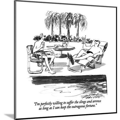 """""""I'm perfectly willing to suffer the slings and arrows as long as I can ke?"""" - New Yorker Cartoon-Mischa Richter-Mounted Premium Giclee Print"""