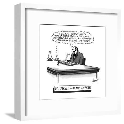 Dr. Jekyll and Mr. Coffee - New Yorker Cartoon-Tom Cheney-Framed Art Print