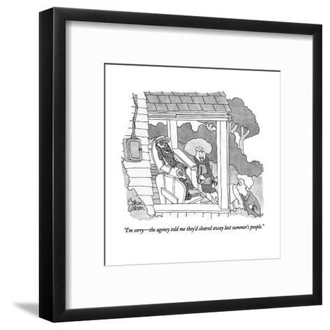 """""""I'm sorry?the agency told me they'd cleared away last summer's people."""" - New Yorker Cartoon-Gahan Wilson-Framed Art Print"""
